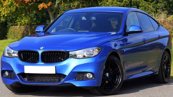 Blue BMW that recently had it bumper repaired by The Paintworks Bodyshop
